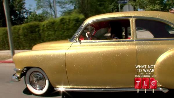 Kat Von D's gold car